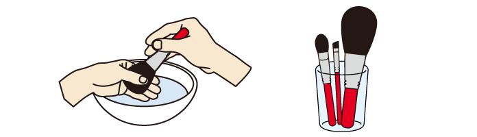 化粧筆の洗い方